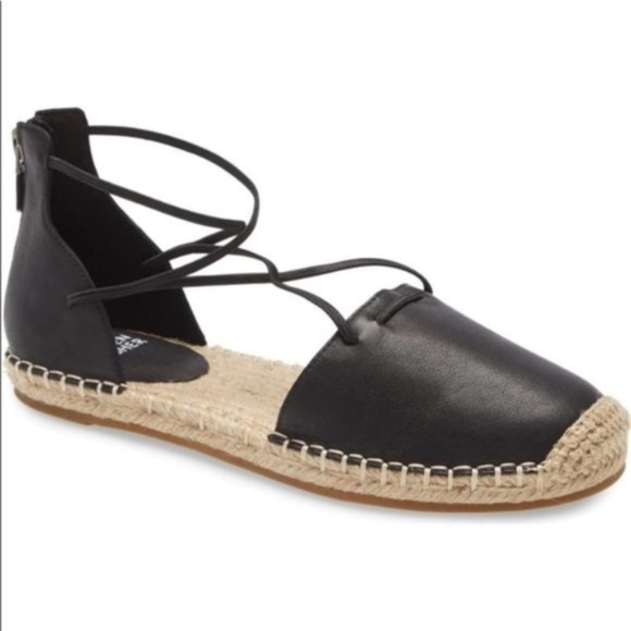 Eileen Fisher Lee d'Orsay Flat Leather Espadrille
